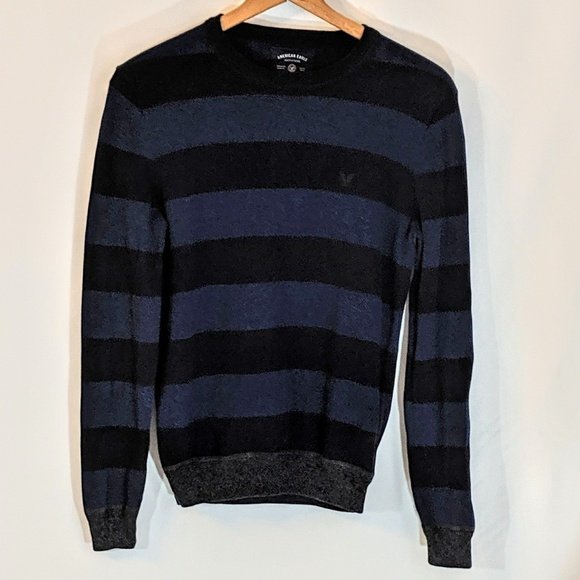 American Eagle Outfitters Other - Black & Blue American Eagle Casual Sweater sz S